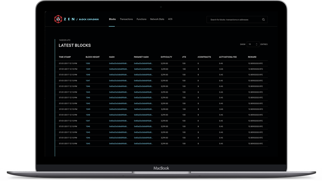 Product block explorer
